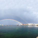Magnifico arcobaleno sul porto di Pantelleria