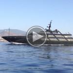 Il mega yacht di Armani a Pantelleria (video)