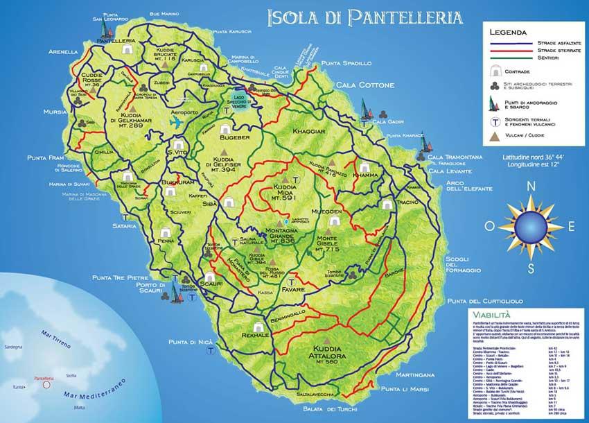 Aeroporti In Sicilia Cartina.Mappa Pantelleria