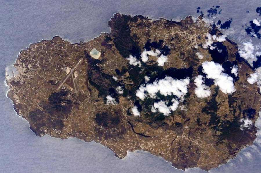 Pantelleria fotografata dalla Stazione Spaziale Internazionale